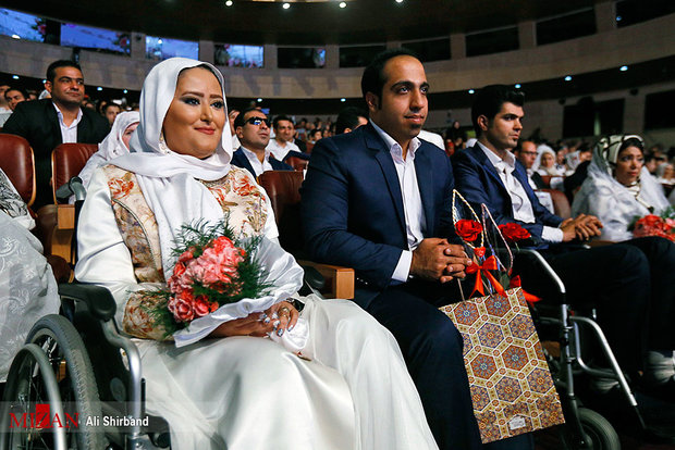 Wedding ceremony for couples with disabilities held in Tehran
