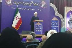 صدر روحانی کے دورہ سمنان کے پہلے دن کی رپورٹ