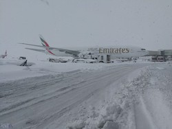 Snow removal drill performed at Imam Khomeini Intl. Airport