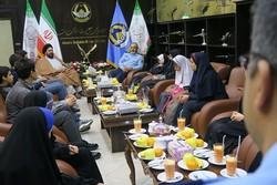 امیر نصیرزاده با فرزندان شهدای سانحه هواپیما C۱۳۰ دیدار کرد