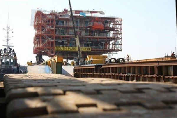 Iran installs 1st South Pars 13 topside
