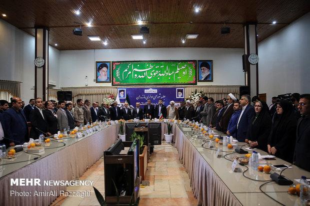 مراسم تکریم و معارفه استاندار مازندران