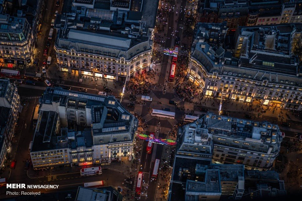 تصاویر هواییاز شبهای لندن
