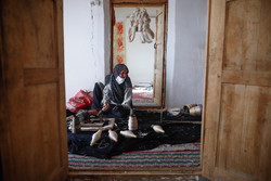 ابریشم کشی در روستای بسک
