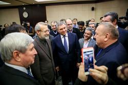 دیدار روسای مجلس روسیه و پاکستان با علی لاریجانی