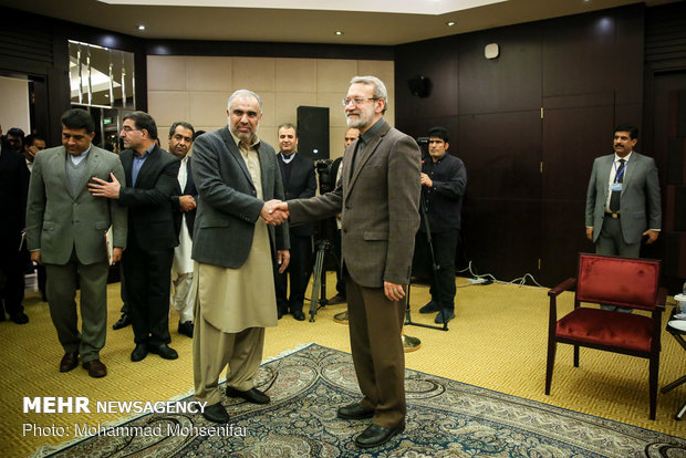 Larijani's meetings with Russian, Pakistani speakers