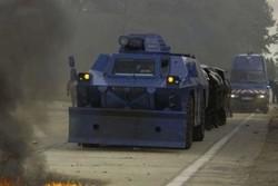 پۆلیسی فهڕەنسا به تانک ڕووبهڕووی هێلهک زهردهکان دهبێتهوه