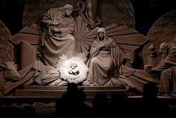 آفرینش صحنه میلاد حضرت مسیح(ع)  در قالب یک اثر هنری شنی