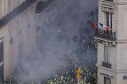 Fransa polisinden sarı yelekli eylemcilere müdahale