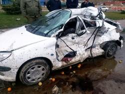 سانحه جاده ای در خنداب یک کشته و ۴ مصدوم برجای گذاشت