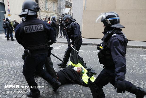 سرکوب شدید معترضان در فرانسه