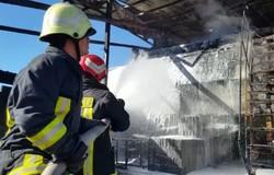 آتش سوزی در کارخانه ایزوگام تیون