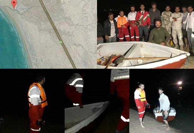 گرفتارشدن اعضای یک خانواده پشت خور در گناوه/ ۹ نفر نجات یافتند