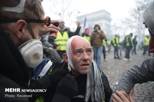 """إستمرار حراك """"السترات الصفراء"""" في شوارع باريس"""