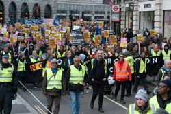 لندن میں بریگزٹ مخالفین کا بڑا مظاہرہ