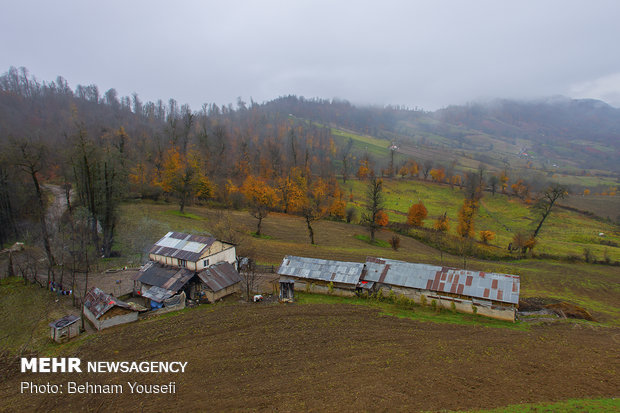 Beautiful sceneries of late autumn in Mazandaran