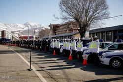 رزمایش زمستانی پلیس در ساری برگزار شد