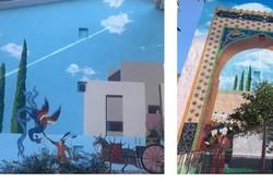 اجرای نقاشی دیواری داستان های شاهنامه فردوسی در گرگان