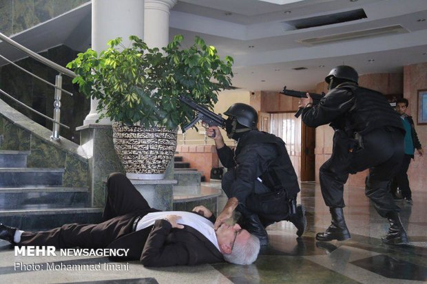 Counter-terrorism exercise in Golestan