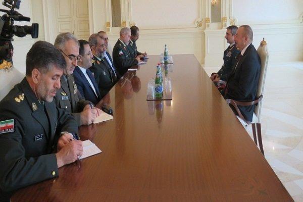 Iran border cmdr. meets with Azeri president in Baku