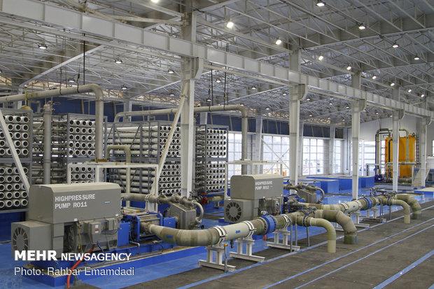 تدشين المرحلة الاولى لأضخم مشروع تحلية المياه بحضور جهانغيري