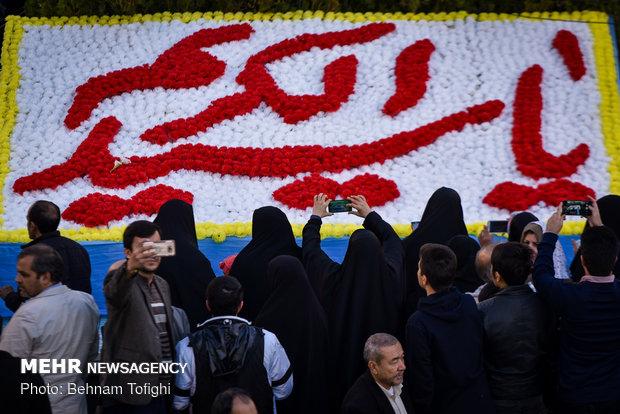 آئین تعویض پرچم گنبد حضرت عبدالعظیم الحسنی (ع)