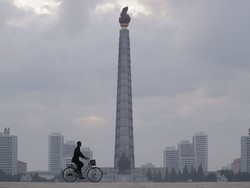 نمای زمستانی پیونگ یانگ