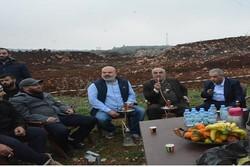 چای و قلیان لبنانیها در چند متری نظامیان صهیونیست!