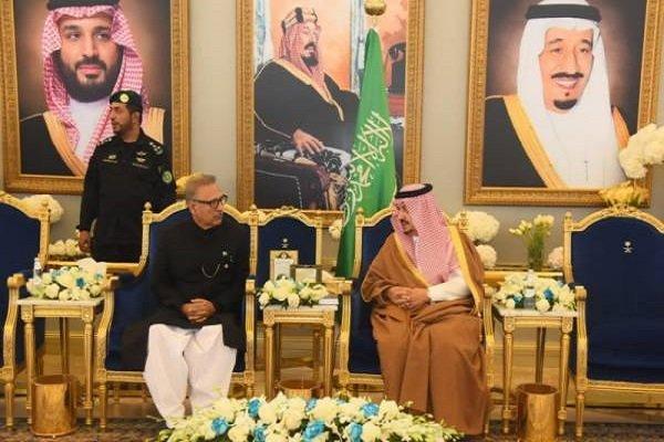 دیدار رئیس جمهوری پاکستان با پادشاه عربستان