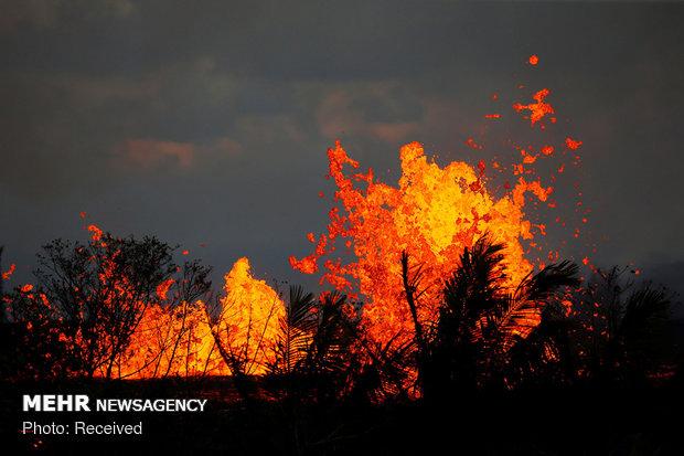 فوران های آتشفشانی سال 2018
