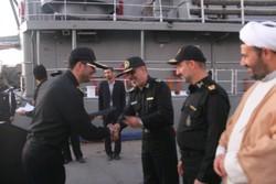 مجموعة القطع البحرية الـ58 للجيش تعود الى ميناء بندر عباس