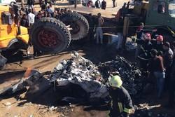 برخورد  پراید با کامیون ۱۰ تن/  یک نفر کشته شد