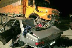 تصادف در زنجان ۲ فوتی و یک مصدوم برجای گذاشت