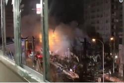 انفجار یک کلوب در ژاپن با ۴۰ مجروح/ تخریب کامل ساختمان