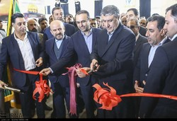 Iranian Transport and Urban Development Minister Mohammad Eslami cutting the ribbon on the 3rd edition of Iran's Logistics, Transportation, and Related Industries Exhibition (IRAN TRANS EXPO 2018) at Tehran's Imam Khomeini Mosalla on Sunday