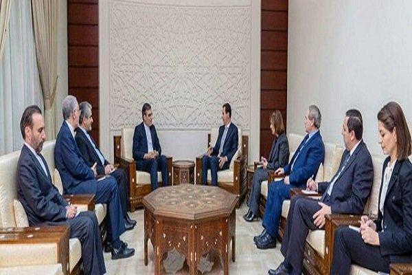 بشار الاسد يشيد بالجهود التي تبذلها إيران لوقف التدخلات الغربية في سوريا