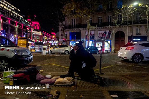 چهره فقر در خیابان های پاریس