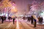 سنندج میں برف باری کی وجہ سے شدید سردی