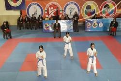 صدرنشینی تیم «مرداس قم» در سوپر لیگ کاراته بانوان
