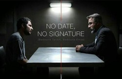 "A poster for ""No Date, No Signature""."