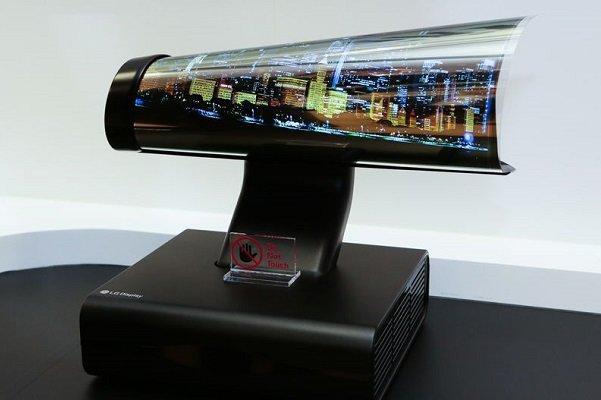 تلویزیون لوله شونده ال جی سال آینده عرضه می شود