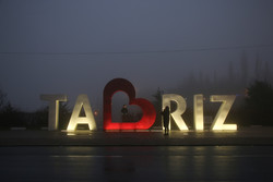 Tabriz drowned in fog