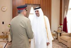 پاکستانی فوج کے سربراہ کی قطر کے امیر سے ملاقات
