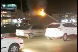 یک کشته و یک مجروح بر اثر حریق خودروی حامل سوخت قاچاق