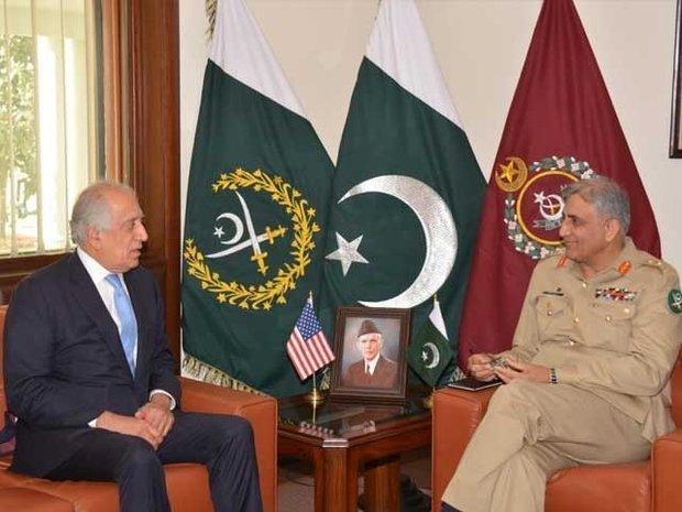 پاکستانی فوجی سربراہ  کی امریکہ کےخصوصی نمائندے سے ملاقات