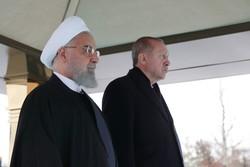 صدر روحانی کا انقرہ میں استقبال