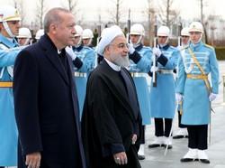 أردوغان يستقبل روحاني في المجمع الرئاسي بأنقرة