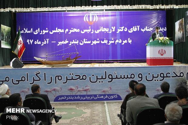 بازدید از چند طرح عمرانی هرمزگان توسط رئیس مجلس شورای اسلامی