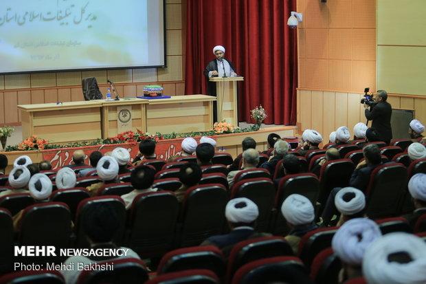 مراسم تودیع و معارفه مدیرکل تبلیغات اسلامی استان قم