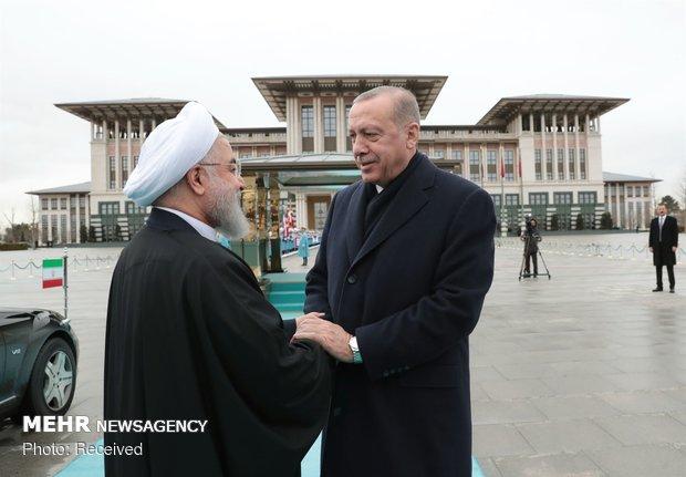 استقبال رسمی اردوغان از روحانی